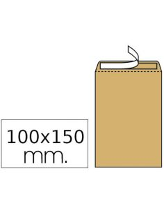 Sobres bolsa kraft 100x145mm Salario Nº1 tira de silicona (1000 unid)