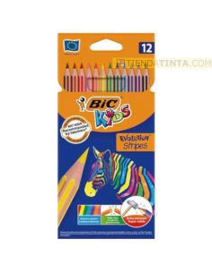 Lápices de colores BIC Evolution Stripes 12 Colores