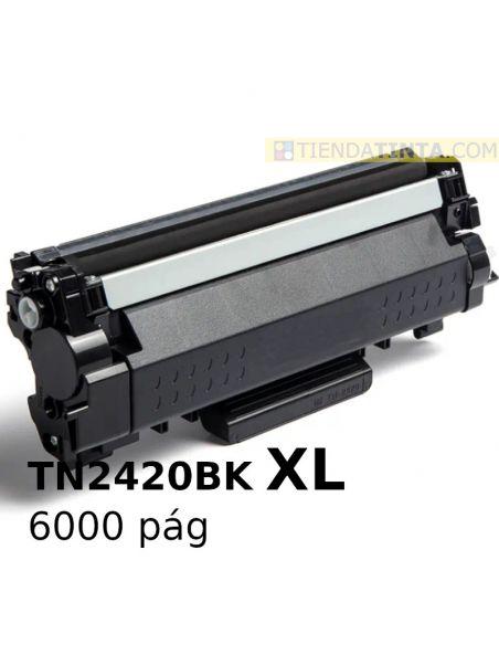 Tóner compatible Brother TN2420BK XL Negro (6000 Pag) para DCPL2510 y mas