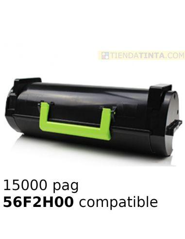 Tóner compatible Lexmark NEGRO 56F2H00 (15000 pag) para MX320 y mas