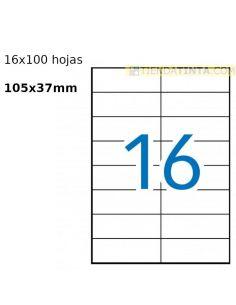 Etiquetas 105x37 A4 Blancas (100h. x 16 etiq) KF10654