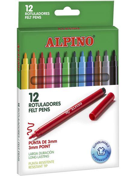 Rotuladores Colores Surtidos 3mm (12 unid) Alpino AR001002
