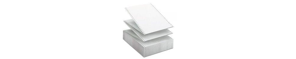 papel continuo, formularios y tarjetas de visita