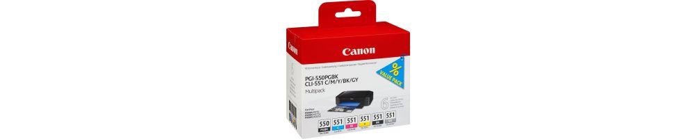 Tinta Canon PGI-550 / CLI-551