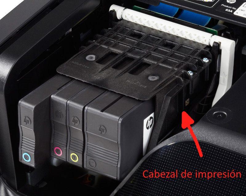 Cabezal de impresión de las impresoras HP OfficeJet